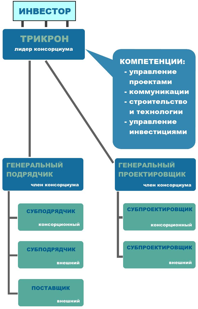 Организационная модель управления проектами ТРИКРОН